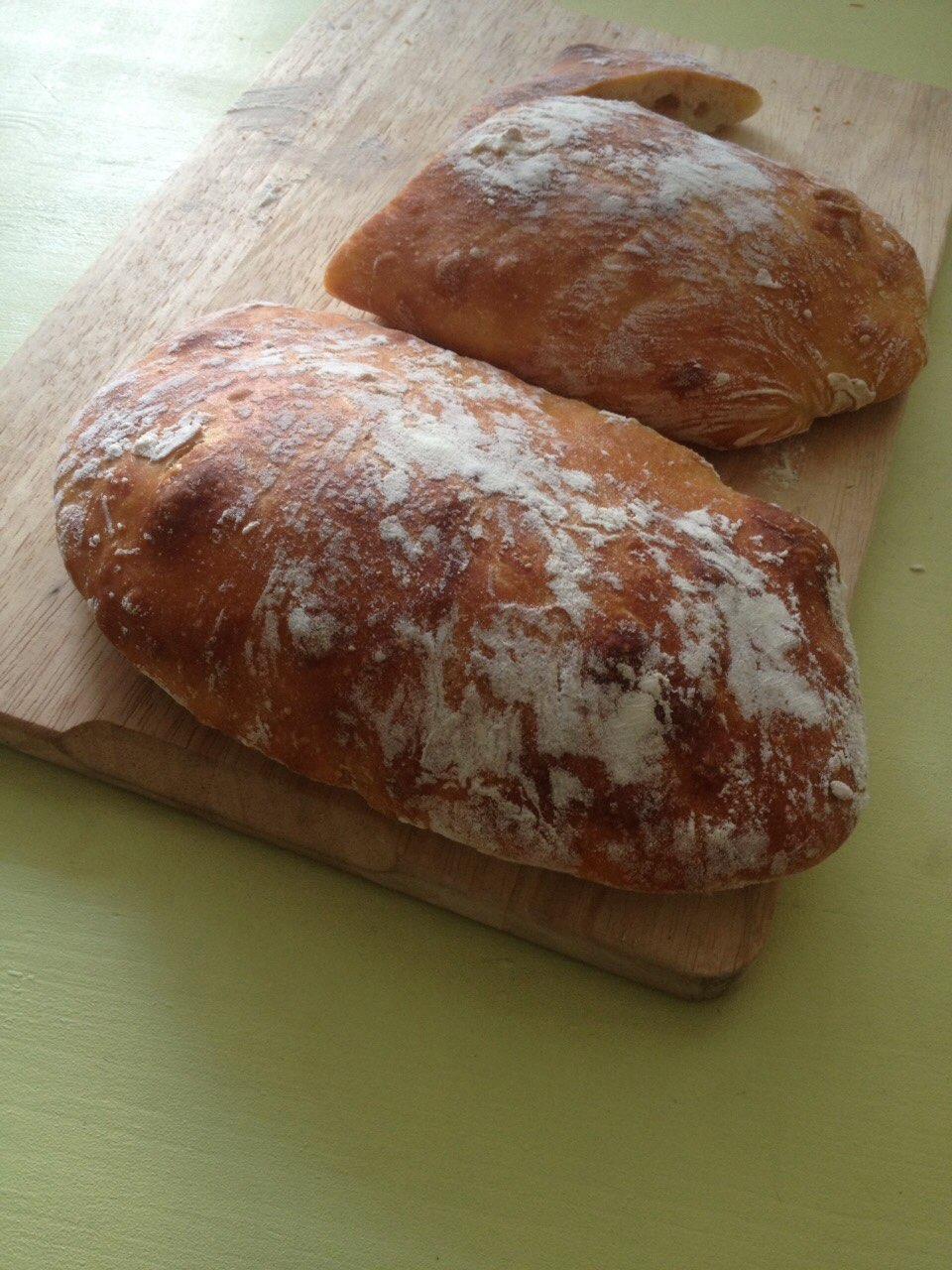 Хлеб чиабатта в домашних условиях