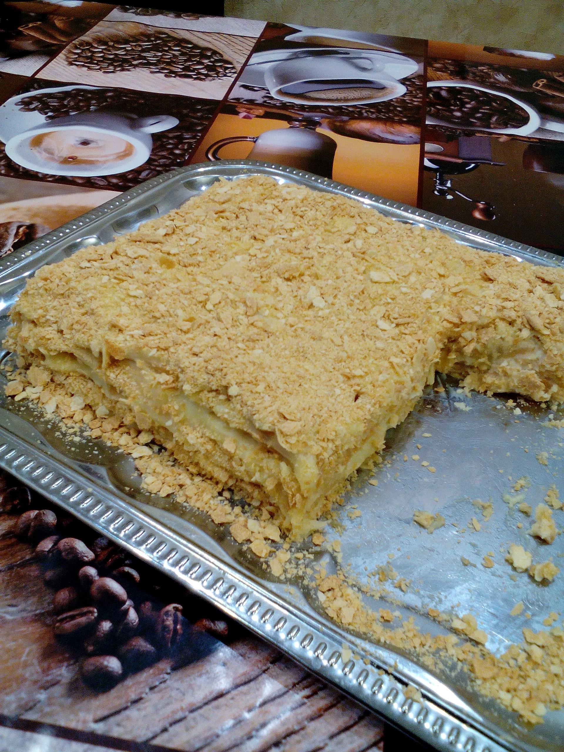 Торт Наполеон в домашних условиях - рецепт с фото 70