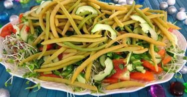 Салат с ростками пшеницы