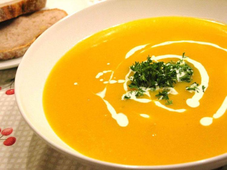 Тыквенно имбирный суп пюре