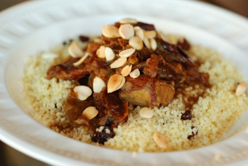Рис с финиками и миндалем