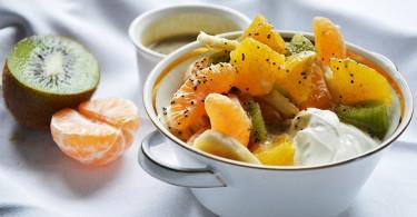 рецепт фруктового салата с льняным семенем