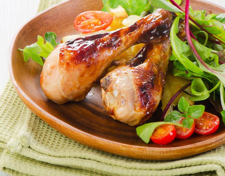 Рецепт голени курицы мед