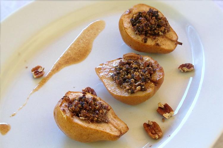 рецепт печеных груш с апельсиновым сиропом