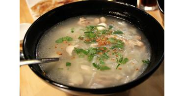 Суп из баранины с хлебом