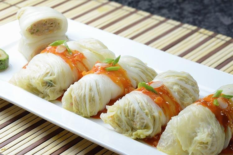 рецепт голубцы с мясом в салатных листьях