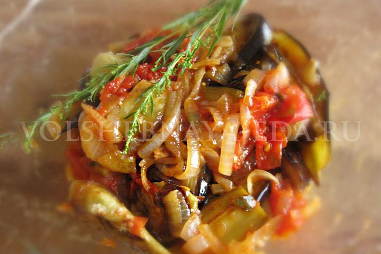 рецепт рагу из баклажанов и овощей