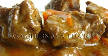 Тушеная телятина рецепт с фото