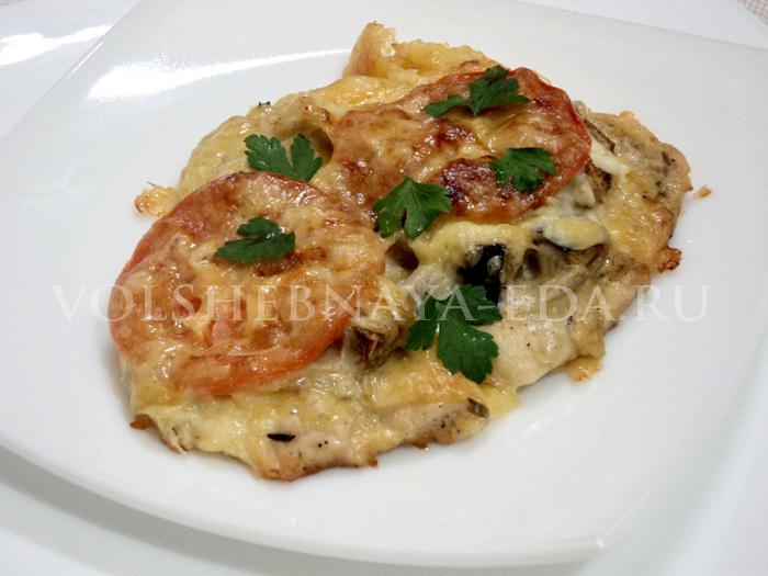 Куриное филе с баклажанами рецепт с фото