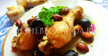 Курица в белом вине