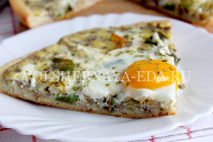 Пицца с яйцом-шаг 23