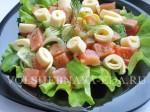 Салат с красной рыбой готов