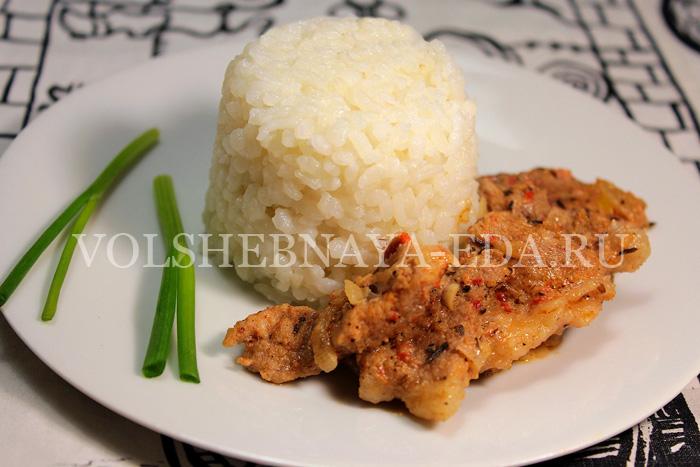 мясо по-тирольски с рисом
