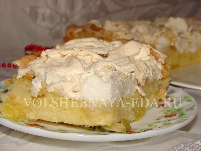 Пирог с безе