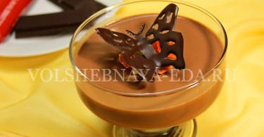 Шоколадная панна котта
