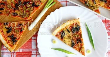 рецепт тонкой пиццы с оливками