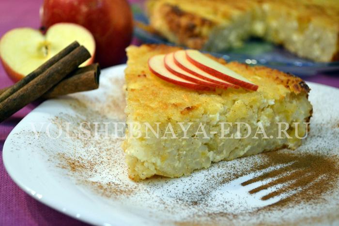 запеканка из риса с яблоками рецепт