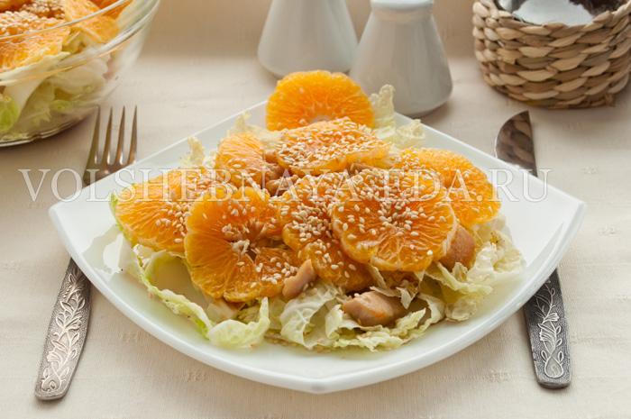 Салат из пекинской капусты и куриного филе