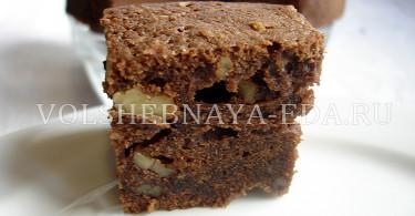 Рецепт шоколадного брауни с фото