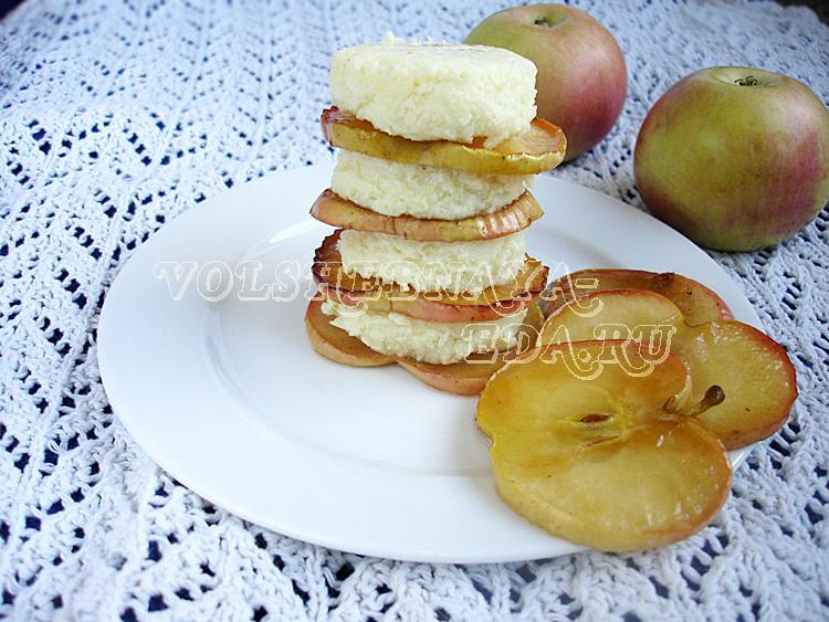 "Десерт из манки ""Башенка"""