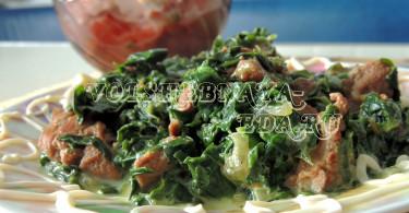 Бланкет из телятины со шпинатом рецепт с фото