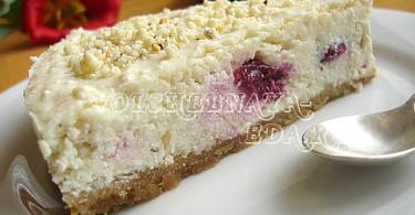 Творожный чизкейк с вишнями рецепт с фото