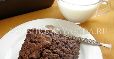 Шоколадный овсяный десерт