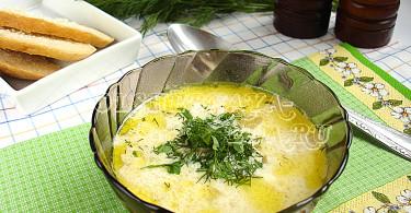 Сырный суп с плавленным сыром рецепт