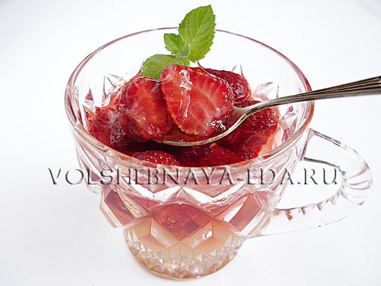 Клубничное желе рецепт с фото