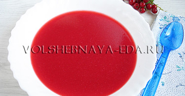 Суп из ягод рецепт с фото