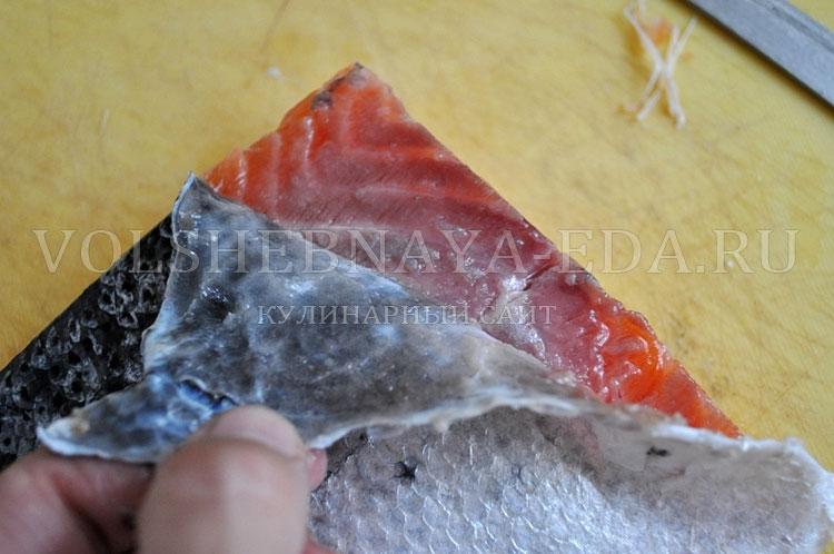 Как сделать слабосоленую лосось