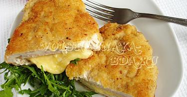Кордон блю куриный шницель рецепт с фото