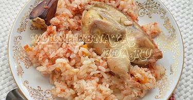 Томатный рис с перепелами в мультиварке рецепт с фото