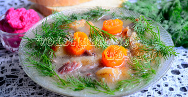 Холодец из свиных ножек рецепт с фото