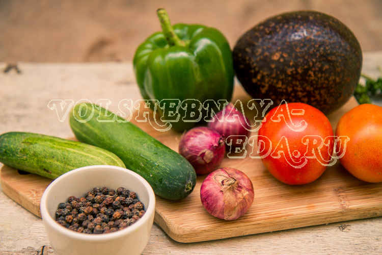 Салат из авокадо рецепт с фото
