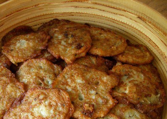 Картофельные блины с куриным фаршем