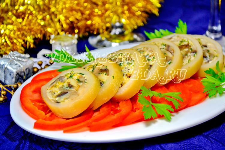 Фаршированные кальмары рецепт с фото