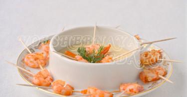 Креветки в соусе бешамель рецепт с фото