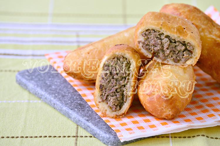 Жареные пирожки с ливерной колбасой рецепт