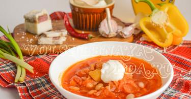 Борщ с консервированной фасолью рецепт с фото