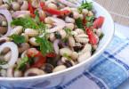 Салат из фасоли-черноглазки рецепт с фото