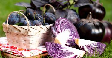 Фиолетовый фрукт, фиолетовый овощ
