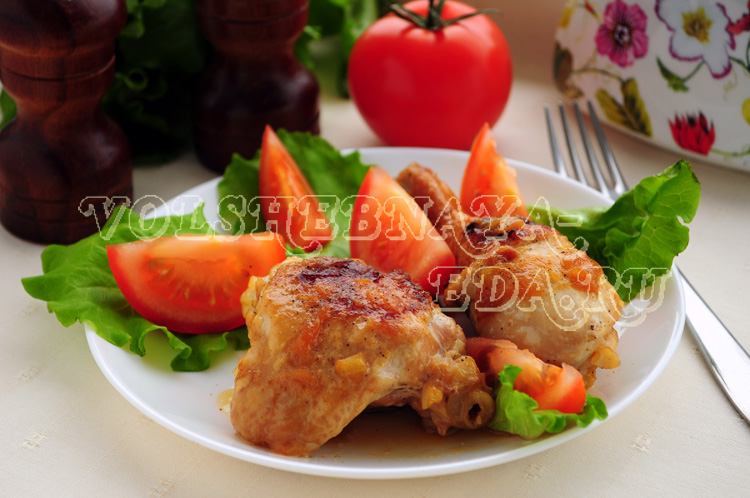 Курица в луковом соусе по-еврейски