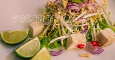 Салат с сыром тофу рецепт с фото