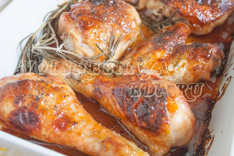 курица в медовом соусе в духовке рецепт