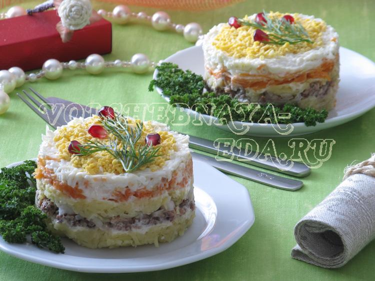 Мимоза с сайрой рецепт с фото пошагово