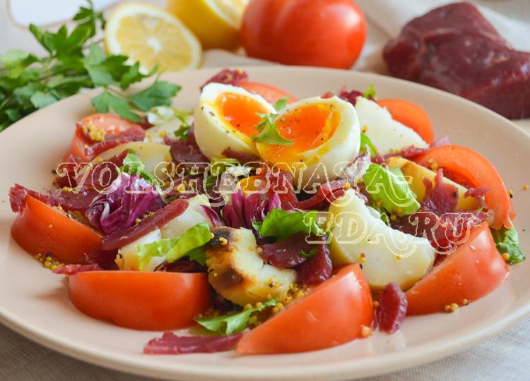 Салат с печеной картошкой рецепт