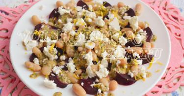 Салат со свеклой и ореховым соусом