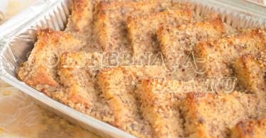Ореховый хлебный пудинг