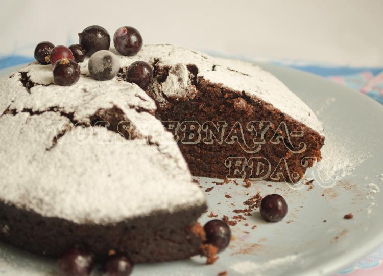 Постный шоколадно-кофейный пирог